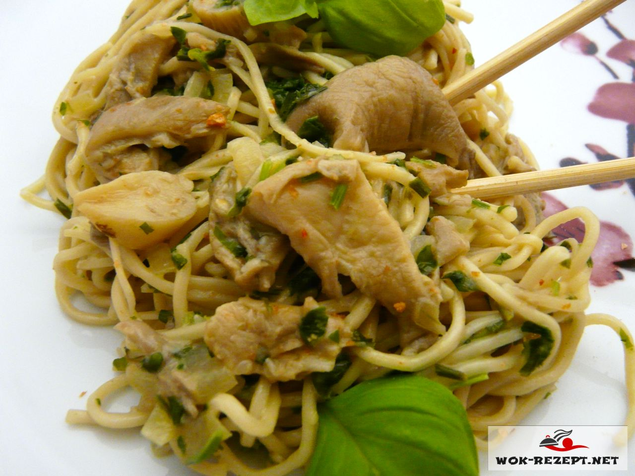 Thai Style Fried Noodles vegetables