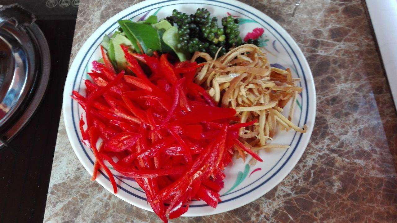 Der Zubereitete Teller mit Gemüse