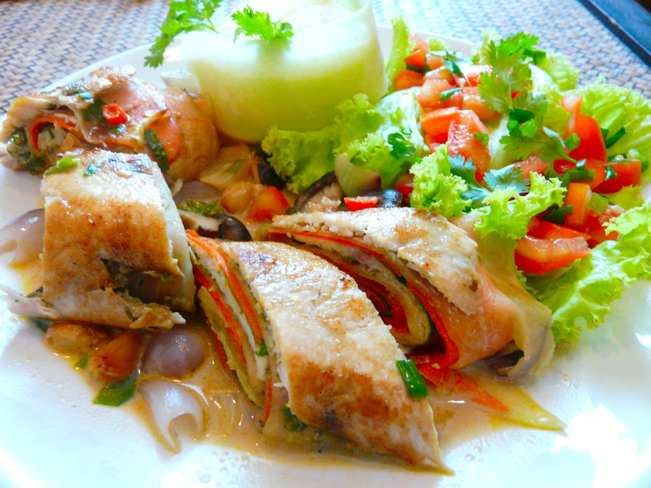 Thai Chicken Roulade